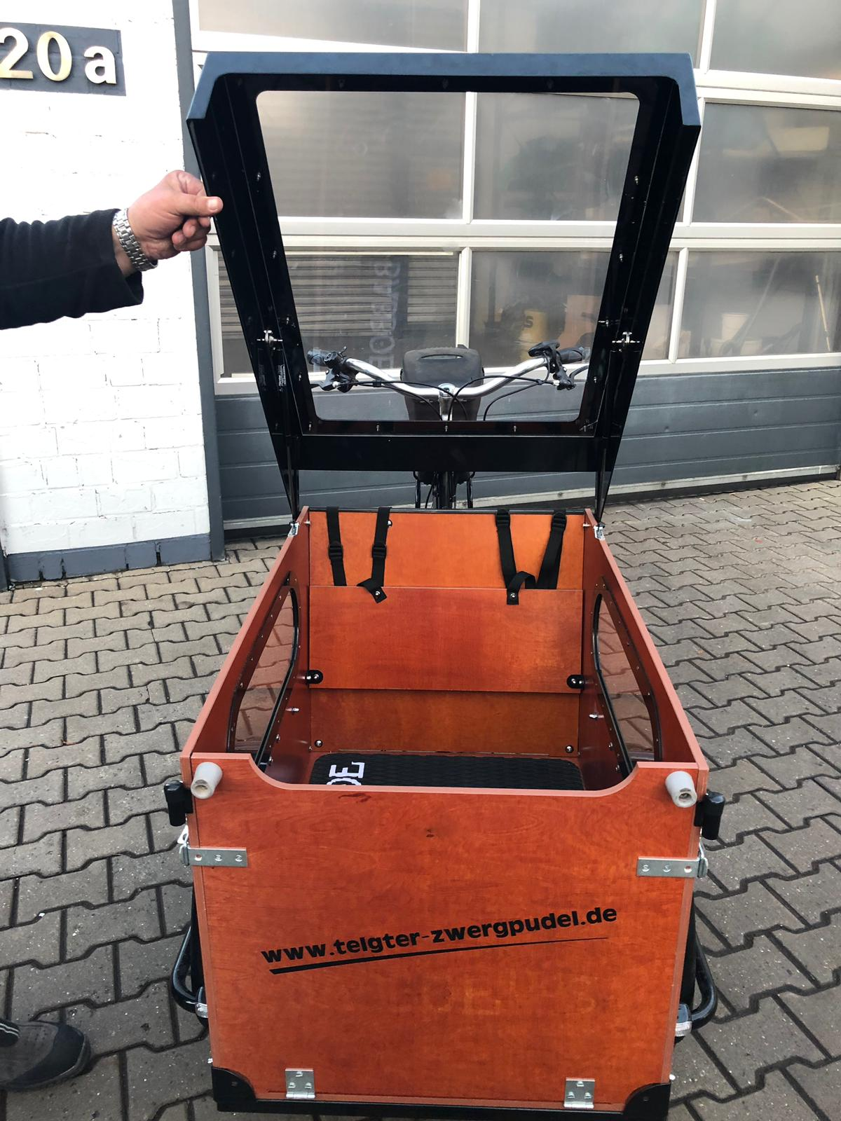 Das elektrische Lastenfahrrad Babboe Dog!